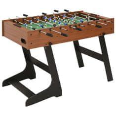 Składany stół do piłkarzyków, 121 x 61 x 80 cm, brązowy