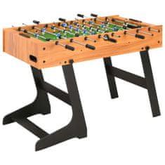 Składany stół do piłkarzyków, 121 x 61 x 80 cm, jasnobrązowy