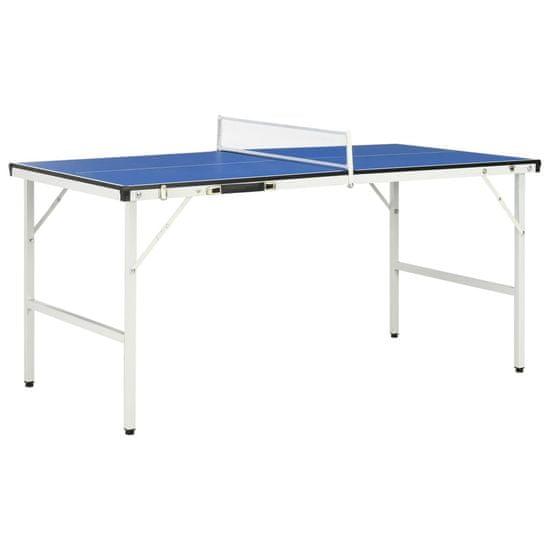 5-stopový stôl na stolný tenis so sieťou modrý 152x76x66 cm