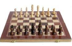 SEDCO Šachy Sedco dřevěné 96 C02 černo/bílé 29x29 cm