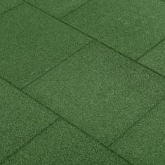 Petromila Protipádové dlaždice 6 ks pryžové 50 x 50 x 3 cm zelené