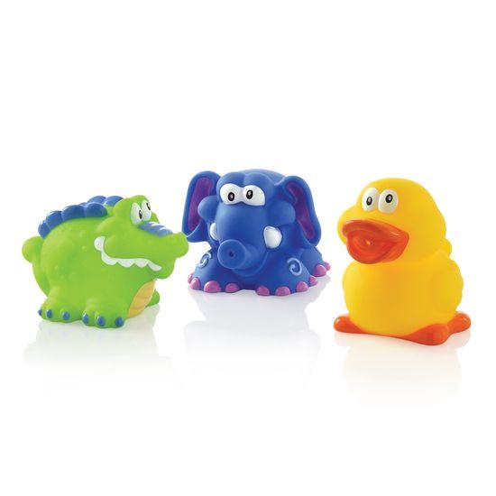 Nuby Hračky do vane /krokodíl, slon, kačka/ 3ks 4+m