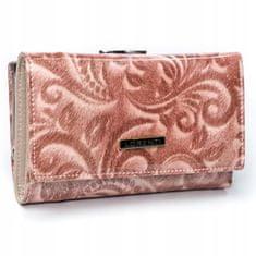 Lorenti Dámská kožená peněženka Sára, růžová