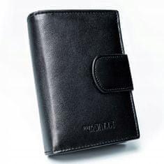 4U Cavaldi Kožená pánská peněženka se sponou Keby, černá