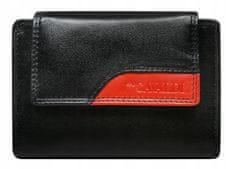 4U Cavaldi Praktická kožená peněženka Nora, černo-červená