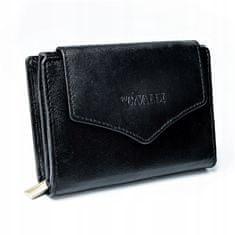 4U Cavaldi Atraktivní kožená černá peněženka Vendy