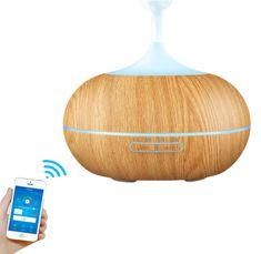 """GOLDSUN Aroma Smart Wifi diffúzor """"Easy Home 300ml"""" légfrissítő és párásító - könnyű fa"""