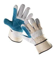 Cerva Kožené kombinované pracovní rukavice Magpie, mechanické - univezální 10