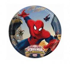 """GoDan Talerzyki papierowe EKO """"Spiderman - Web Warriors"""" - 8 szt"""