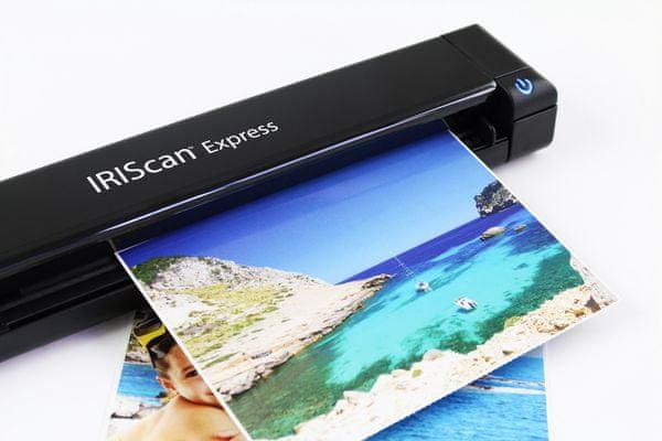 Iriscan Express 4, hordozható szkenner, bolvasás, gyors, USB-be, 300 DPI