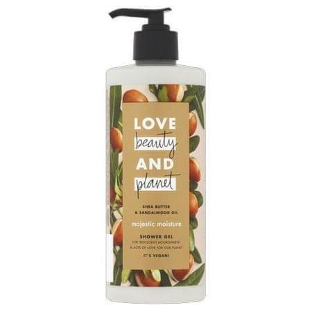 Love Beauty & Planet Shea vaj tusfürdő szandálfaval (Majestic Moisture Shower Gel) (mennyiség 100 ml)