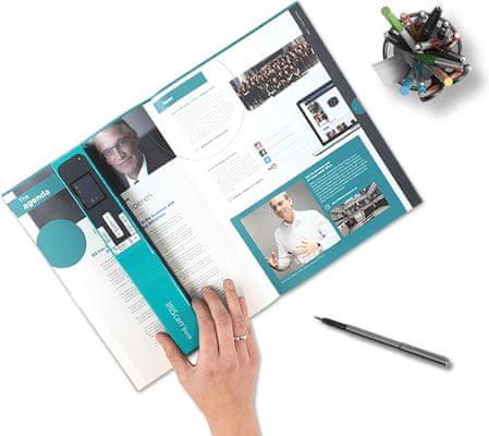 Iriscan Book 5, ručný skener na knihy, skenovanie, malý, ľahký, prenosný