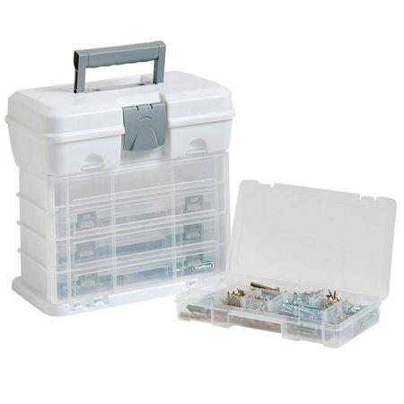 VonHaus prenosni kovček s predalniki, bel (15/229)
