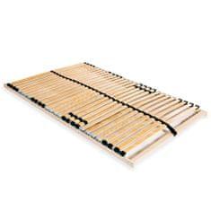 Lamelový posteľný rošt s 28 lamelami a 7 zónami 120x200 cm