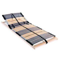 Lamelový posteľný rošt so 42 lamelami a 7 zónami 70x200 cm