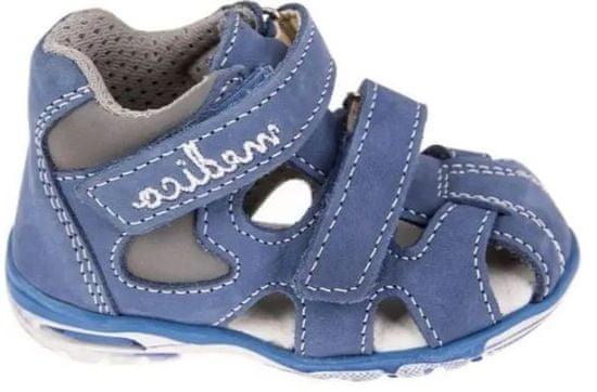 Medico Chlapčenské kožené sandále EX4520/M81 20 modré