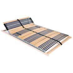 Lamelový posteľný rošt so 42 lamelami a 7 zónami 100x200 cm