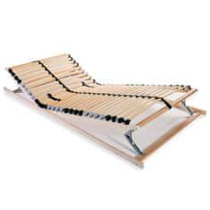 Lamelový posteľný rošt s 28 lamelami a 7 zónami 70x200 cm
