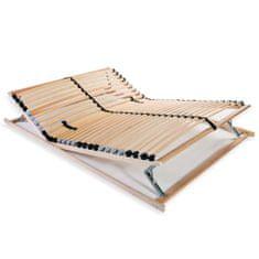 Lamelový posteľný rošt s 28 lamelami a 7 zónami 100x200 cm