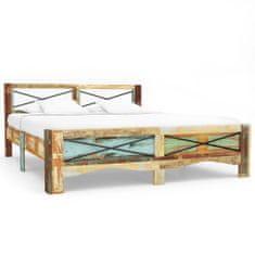 shumee Rám postele masivní recyklované dřevo 160 x 200 cm