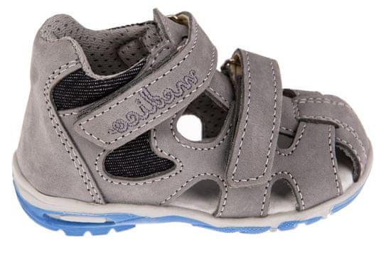 Medico chlapčenské kožené sandále EX4520/M78 23 šedá