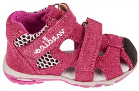 Medico dekliški usnjeni sandali EX4923/M76, 20, roza