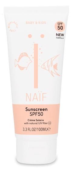 NAIF Ochranný krém na opalování SPF 50 pro děti a miminka 100ml