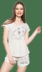 Vienetta Dámské pyžamo šortky Karolína barva béžová