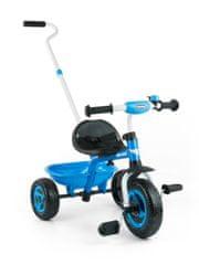 MILLY MALLY Dětská tříkolka Milly Mally Boby TURBO blue