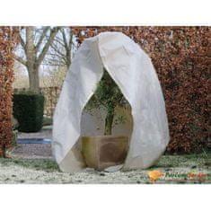 shumee Nature Zimní fleecový kryt se zipem 70 g/m² béžový 2 x 1,5 x 1,5 m