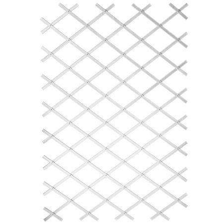 shumee Nature Oporna mreža za rastline 50x150 cm PVC bele barve 6040701