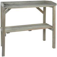 Esschert Design Zahradní pracovní stůl šedý NG75