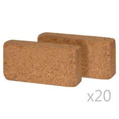 shumee 40 db 650 g-os kókuszrost-tégla, 20 x 10 x 4 cm