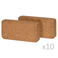 shumee 20 db 650 g-os kókuszrost-tégla, 20 x 10 x 4 cm