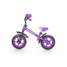 MILLY MALLY Detské odrážadlo kolo Milly Mally Dragon purple Fialová
