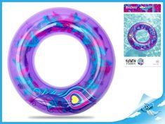Mikro Trading Kruh nafukovací 91cm s barevným peřím 10+ v sáčku