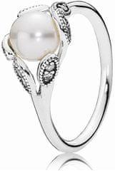 Pandora Nežný prsteň s perličkou 190967P-54 striebro 925/1000