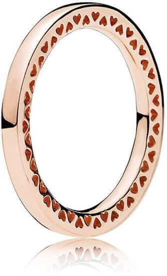 Pandora Bronzový srdiečkový prsteň 186237 (Obvod 54 mm) striebro 925/1000