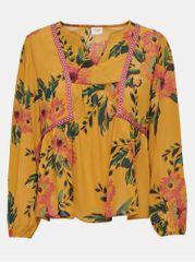 Jacqueline de Yong hořčicová květovaná volná halenka Solis