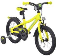 """Maxbike Dětské 16"""" kolo - neon žlutá matná"""