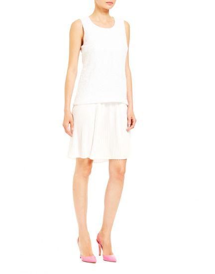 Trussardi Jeans dámske šaty 56D00332-1T003541 42 biela