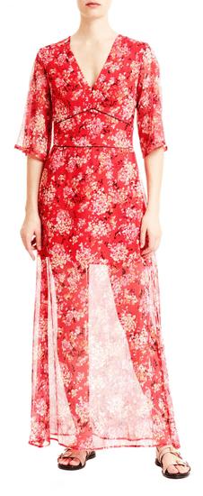 Trussardi Jeans dámske šaty 56D00353-1T003599 42 červená