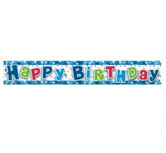 GoDan Banner Happy Birthday - modrá