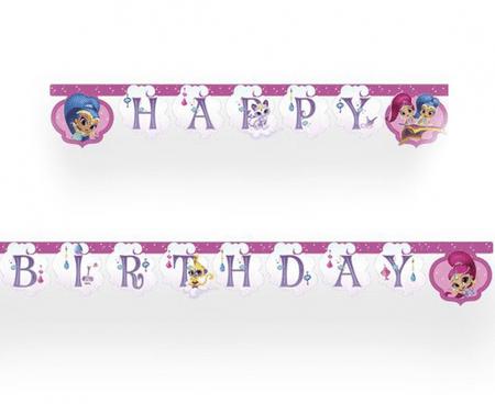 """GoDan Banner """"Shimmer és Shine"""" - boldog születésnapot 200 cm"""