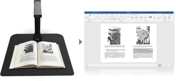 Iriscan Desk 5, 300 DPI, A4, bezkontaktný skener, stolný skener a kamera v jednom, tvorba videí so zvukom, skenovanie dôležitých dokumentov a kníh