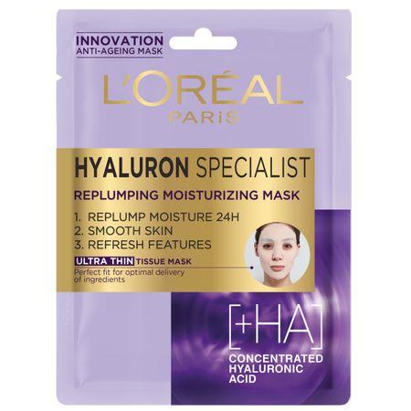 Loreal Paris Hyaluron Specialist maska za obraz, tekstilna, 30 ml