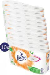 LINTEO Toalettpapír 10 x 8 db, fehér, 3 rétegű 15 m