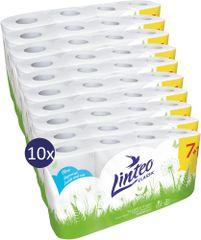 LINTEO Toalettpapír CLASSIC 10 x 7 + 1 ingyenes, 8 db, fehér 2 rétegű