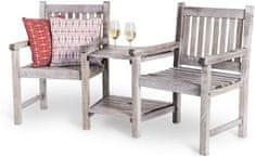 VonHaus Loveseat rustikalna vrtna garnitura za dvoje sa stolićem (2500227)