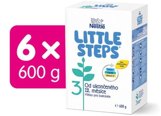 Nestlé LITTLE STEPS 3 pokračovací (batolecí) mléko 6x600 g